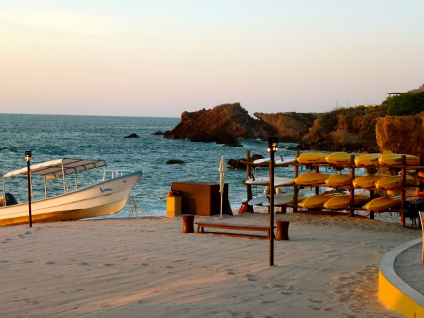 On the beach at Four Seasons Punta Mita