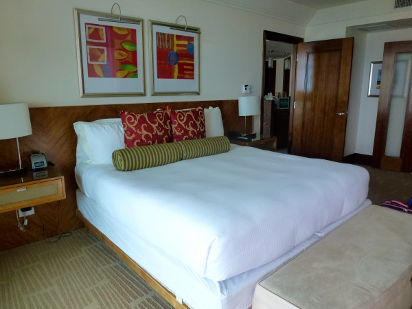 Master bedroom in Oceanview Suite at The Reef Atlantis