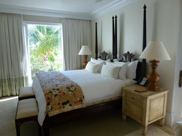 Master bedroom in Oceanview Suite at Regent Palms