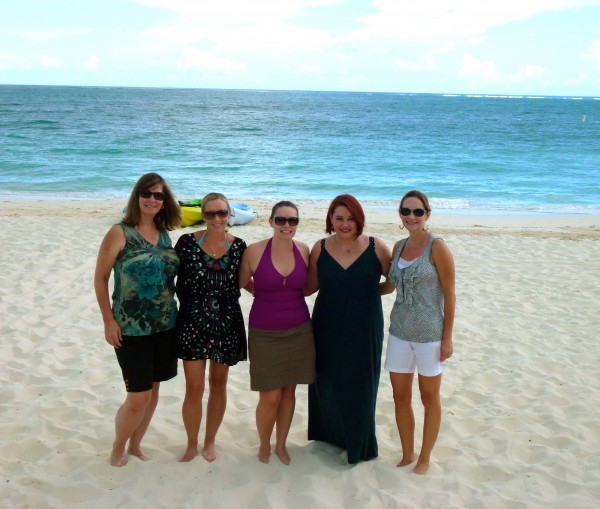 On Grace Bay Beach with Brownell colleagues
