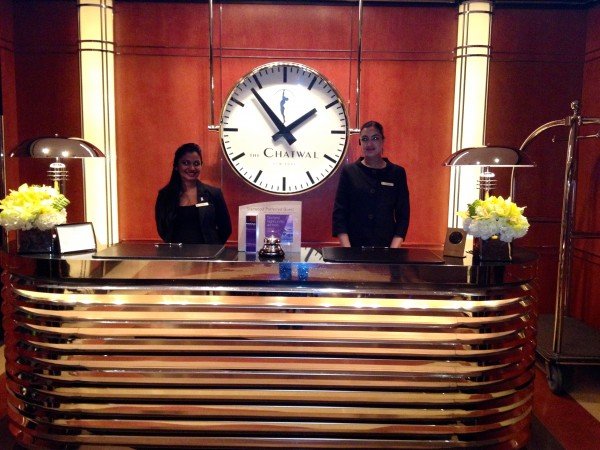 Front desk at The Chatwal