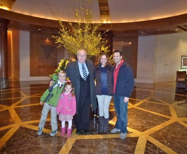 With our guide at the Mandarin Oriental, Washington, D.C.