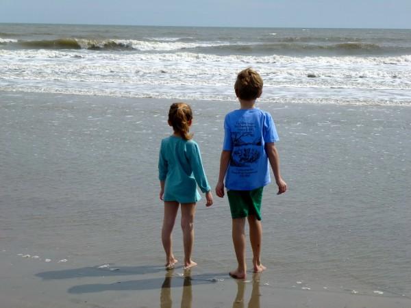 Enjoying an early spring beach day on Kiawah Island, South Carolina