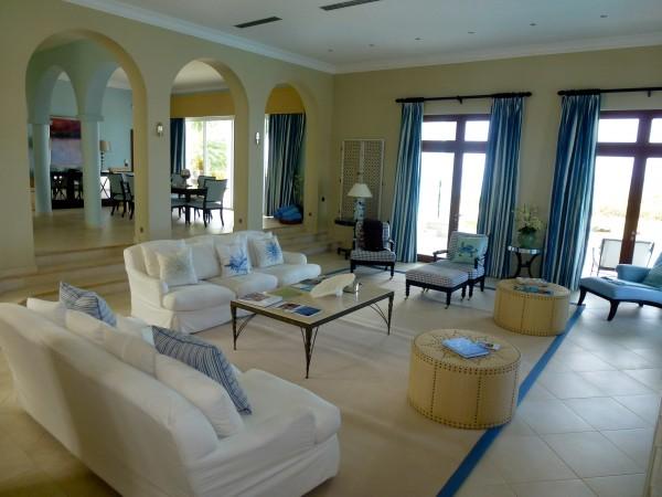 Villa interior at La Samanna
