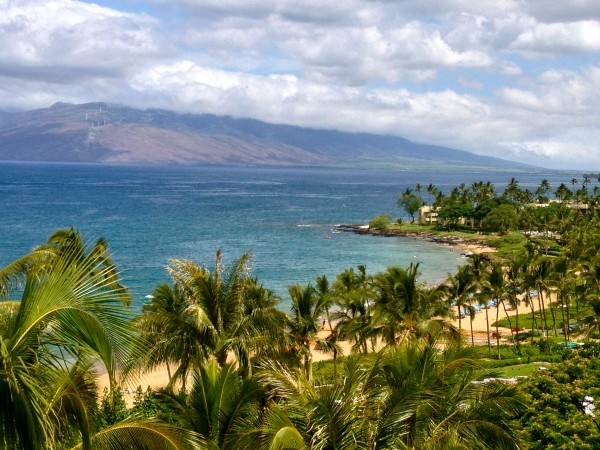 View from an Oceanfront Prime Room at The Four Seasons Wailea