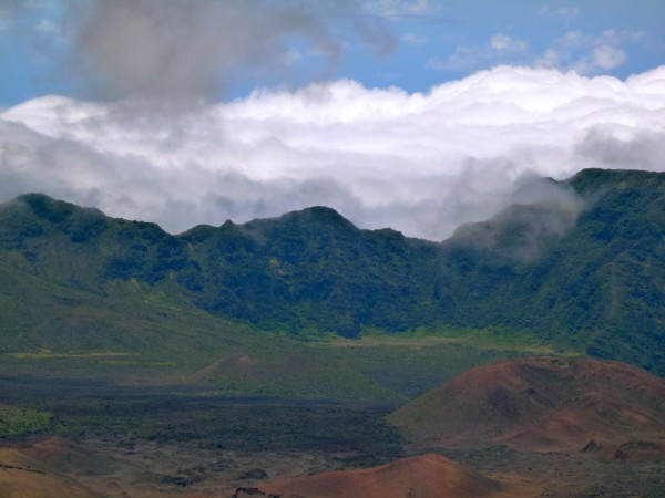 Haleakala's crater, 10,000 feet above sea level
