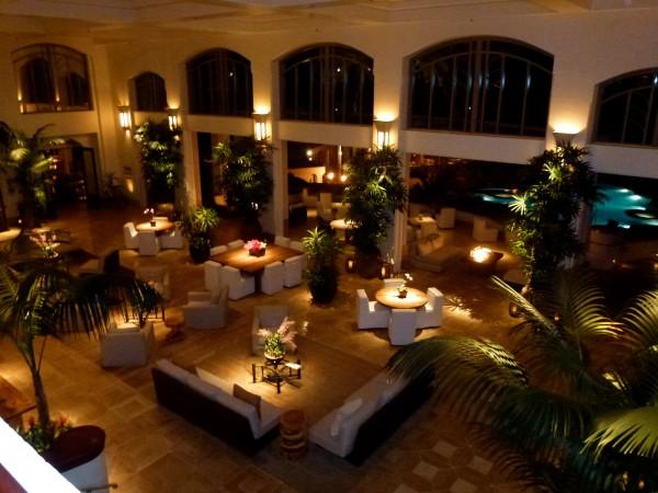 Evening in lobby at Four Seasons Manele Bay