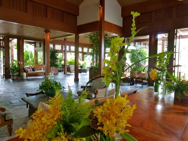 Lobby at Four Seasons Hualalai