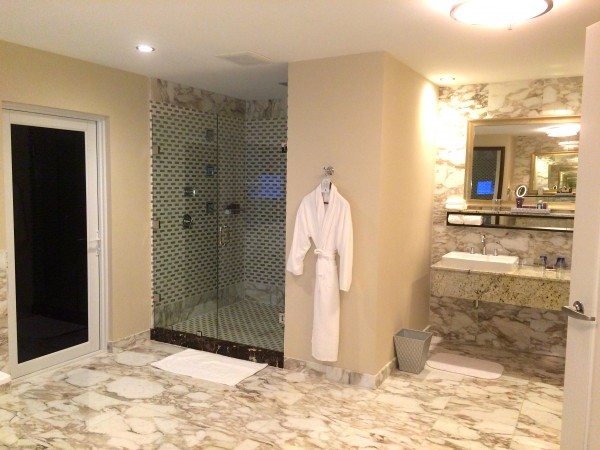 Ritz-Carlton Suite master bathroom at Ritz-Carlton Aruba