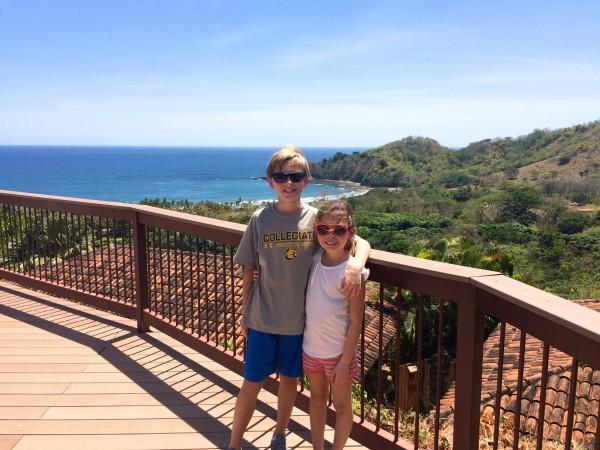 My children at Hotel Punta Islita