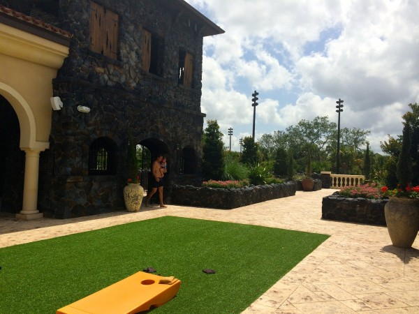 Outdoor gaming area at Four Seasons Orlando