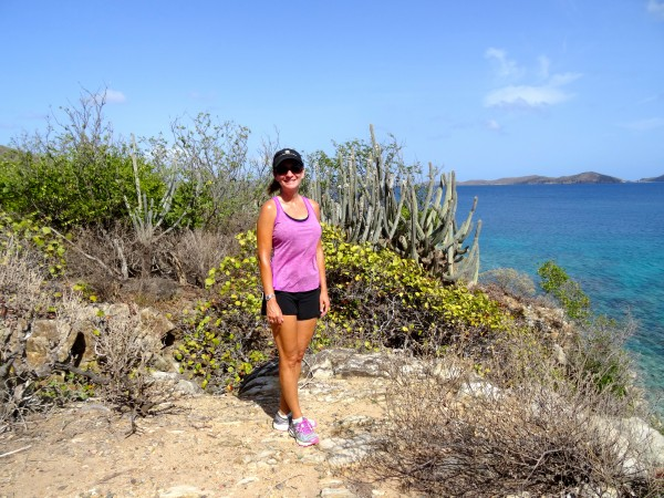 Hiking at Little Dix Bay