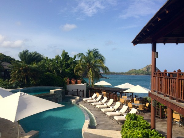 The pool at Cap Maison, St. Lucia