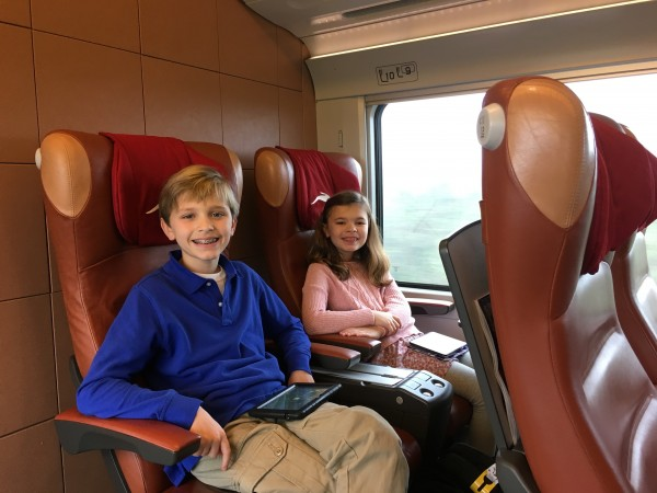 Taking the train to Florence