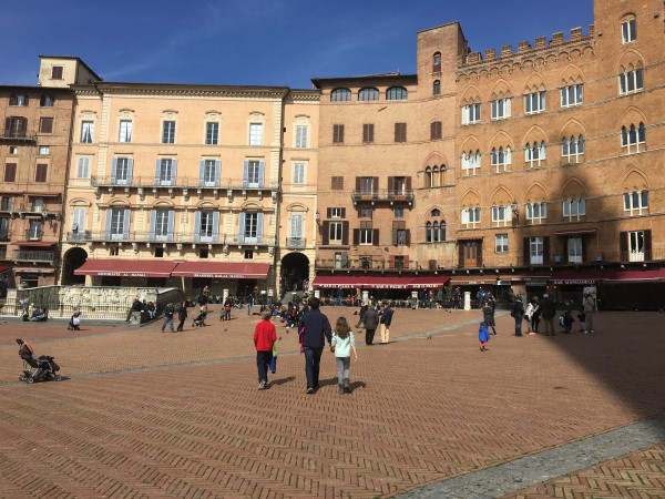 Site of the Palio races, Siena