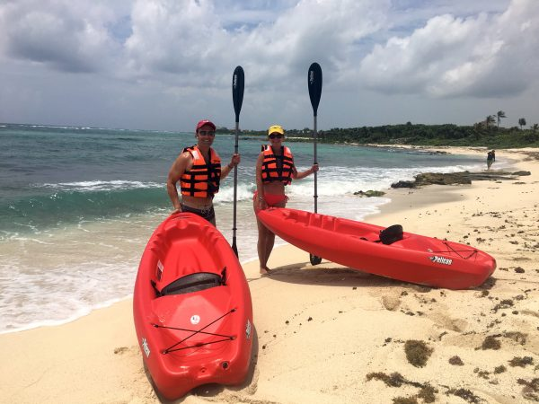 Kayaking in Akumal