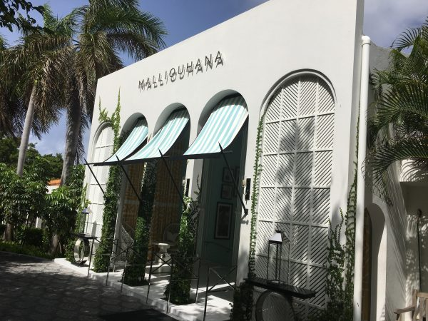 The entrance at Malliouhana