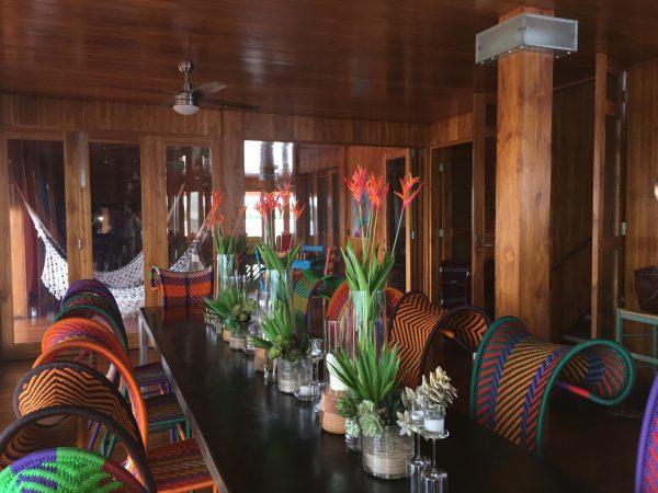 Table set at Sweet Bocas villa