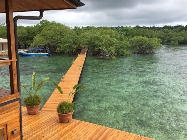 The entry walkway at Bocas del Toro