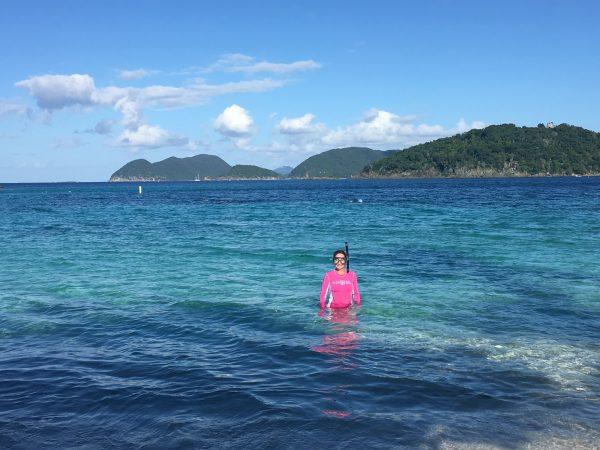 Snorkeling on Hawksnest Beach