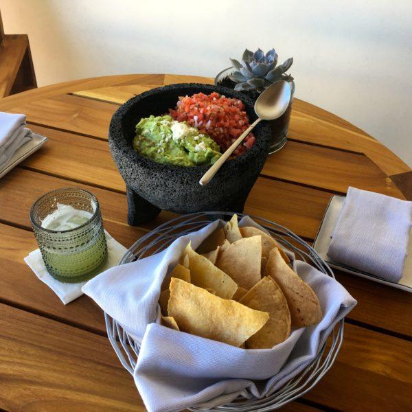 Guacomole and chips at Chileno Bay