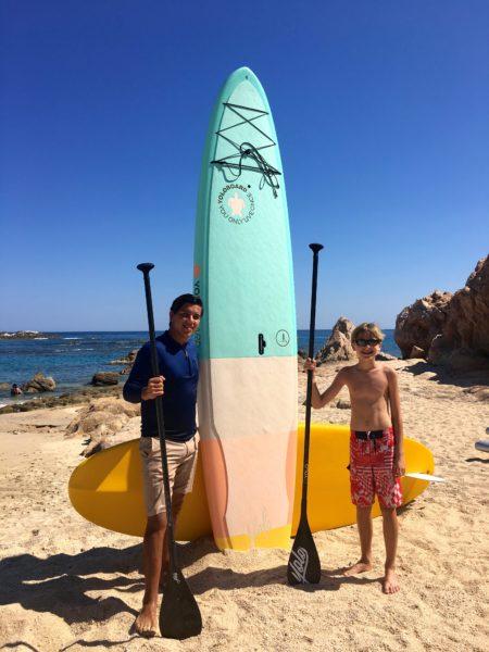 Chileno Bay paddle boarding