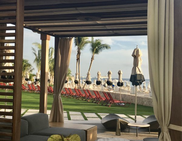 Outdoor seating area at Kimpton Seafire, Grand Cayman