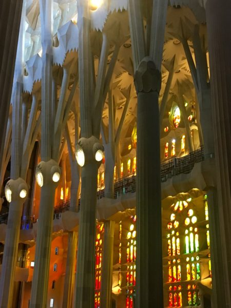 Interior view of the Sagrada Familia, Barcelona