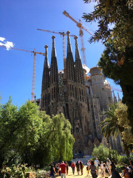 Sagrada Familia exterior view, Barcelona