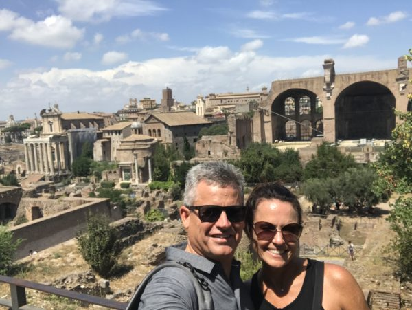 My clients exploring Rome, Italy