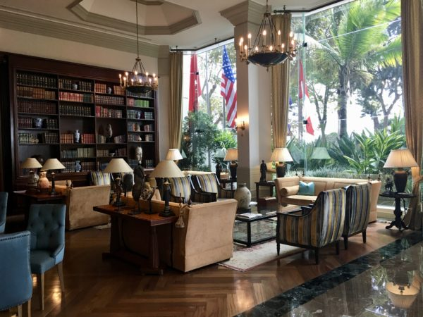 The lobby at Belmond Miraflores Park in Lima, Peru