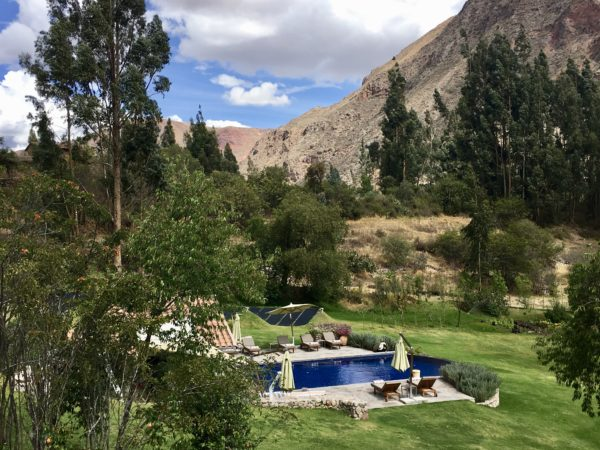 Pool with a view in the Sacred Valley, Belmond Las Casitas