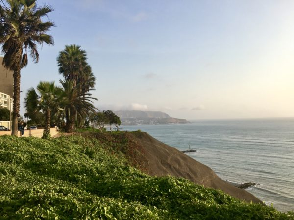 View of the Pacific from Belmond Miraflores Park, Lima