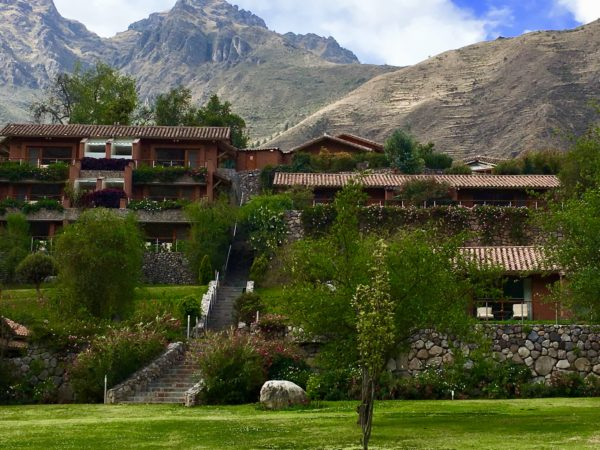 Beautiful grounds of Belmond Rio Sagrado, Sacred Valley, Peru