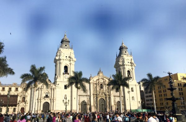 Historic center in Lima, Peru