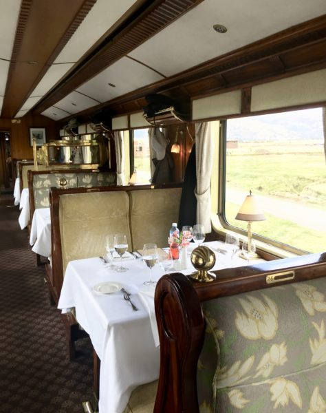 Belmond Hiram Bingham dining car
