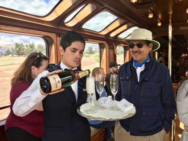 Bar car on the Belmond Hiram Bingham