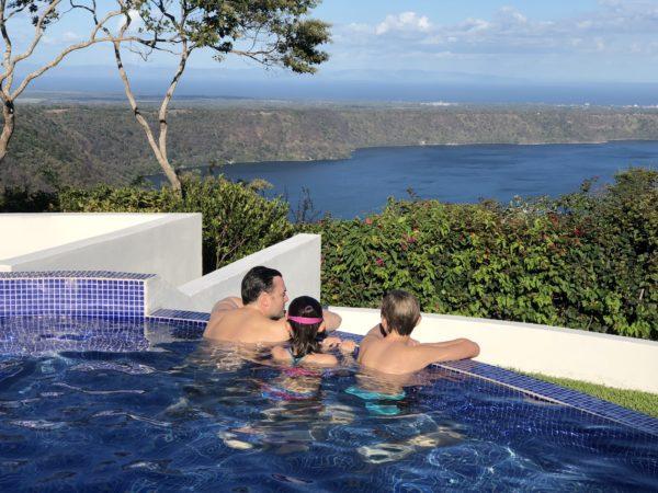 Pool overlooking Laguna de Apoyo, Nicaragua