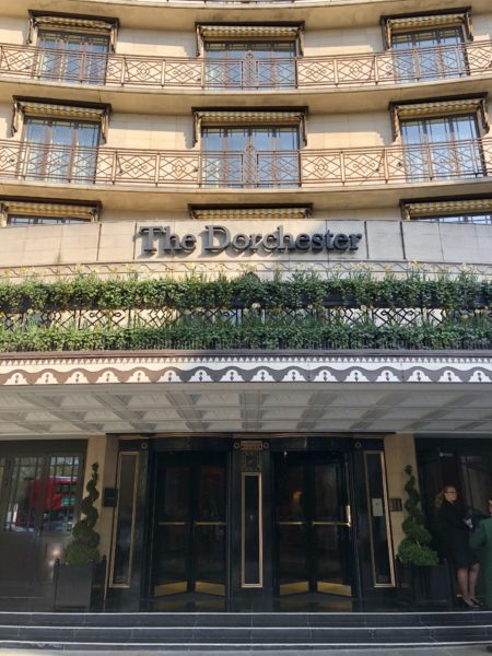 Entrance to The Dorchester
