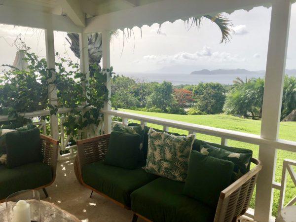 Verandah at a villa at the Four Seasons Nevis