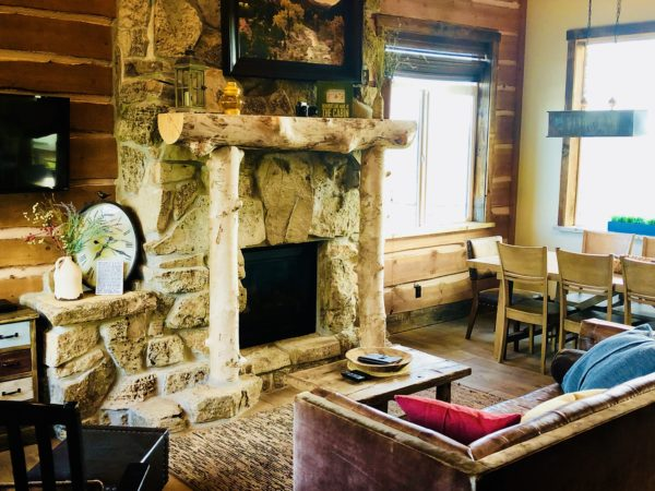 Cozy cabin at Zion Mountain Ranch