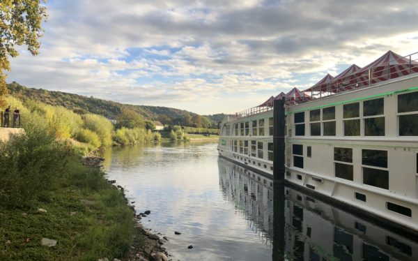 Uniworld docking on the Seine