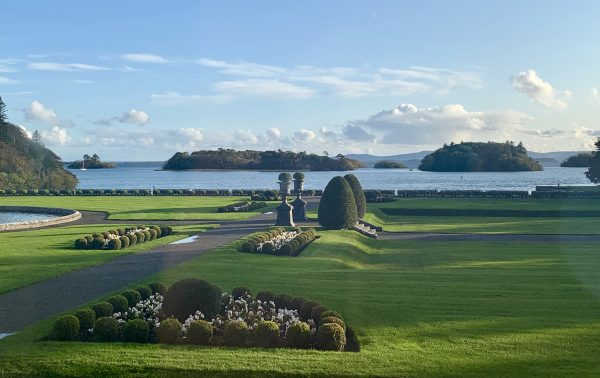 My view from the Presidential Suite at Ashford Castle